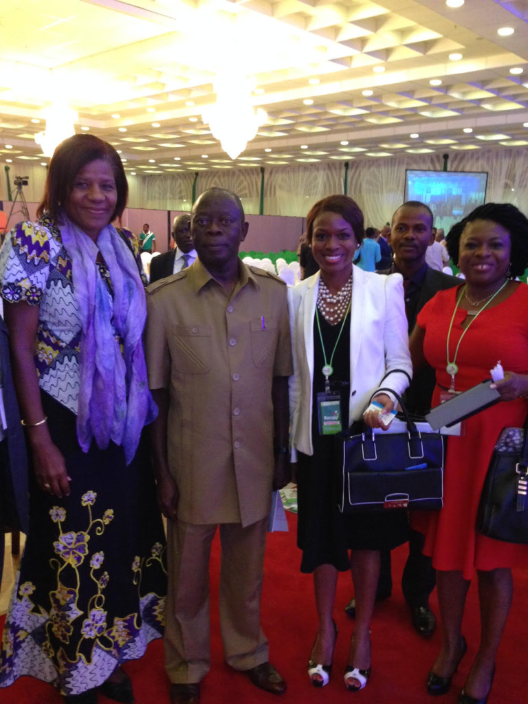 Dr Williams-Elegbe (second from right) with (from left) Ms Marie-Francoise Marie Nelly, the Country Director of the World Bank, Nigeria, Comrade Adams Oshiomole, the Governor of Edo State, Nigeria and Dr. Ama Eyo also of APPRRU and Bangor University, Wales