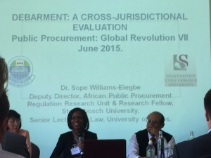 Williams-Elegbe delivering her paper at Global Revolutions VII.