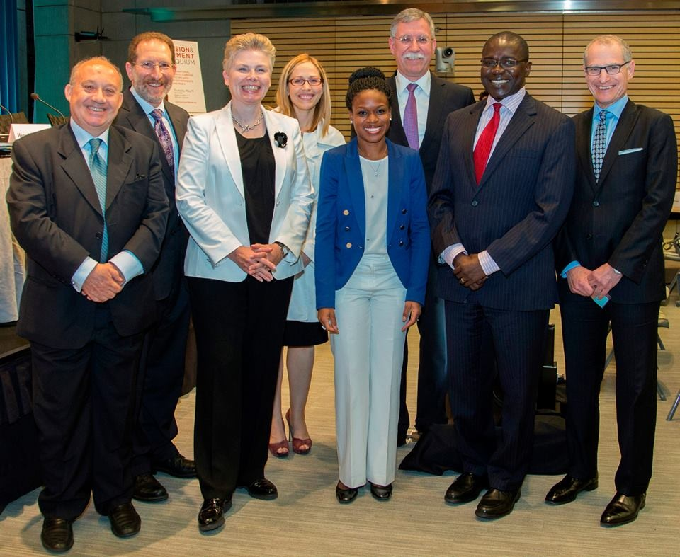Dr Williams-Elegbe (centre) with other participants at the World Bank colloquium on suspension and debarment.