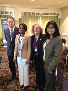 David Green, Director of the Serious Fraud Office, UK, Sope Williams-Elegbe, Lisa Risley, Assistant Inspector General, USAID and Catherine Trujillo, Deputy Inspector General, USAID.