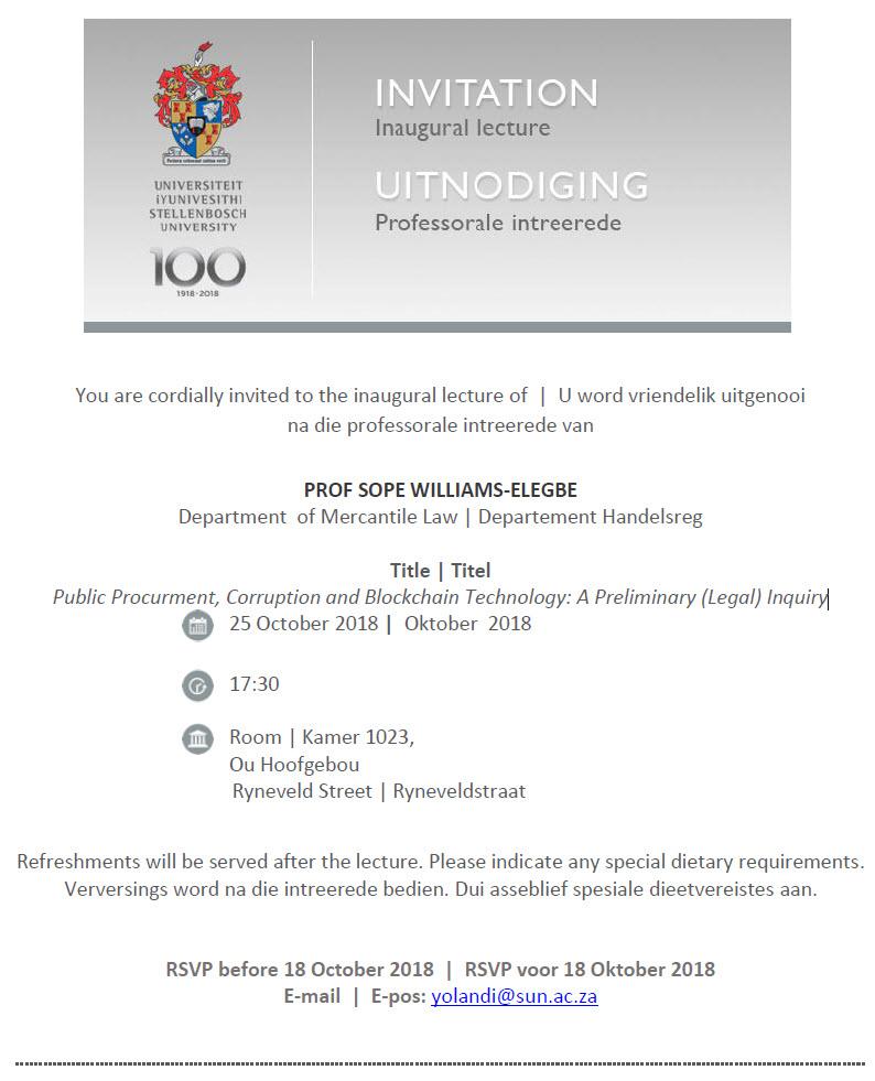Sope Inaugural Invite