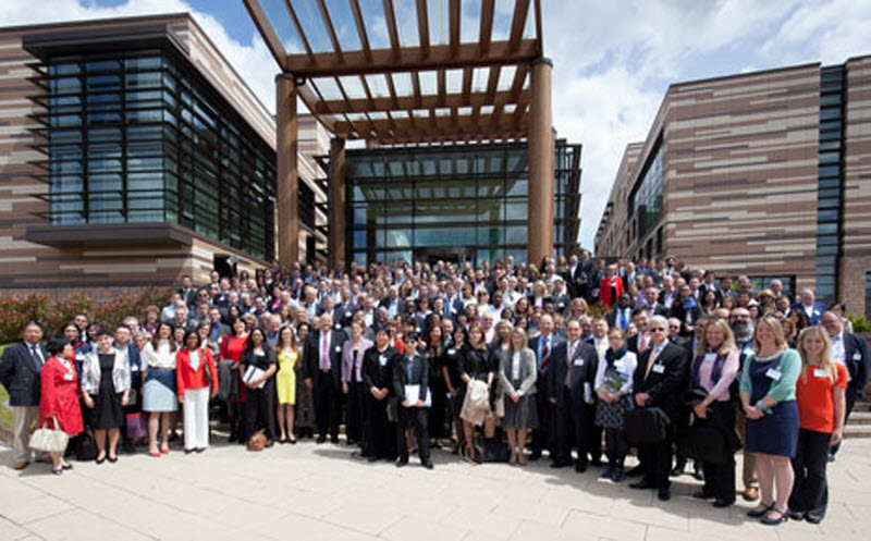 Attendees at the 2015 Global Revolutions VII conference at the East Midlands Conference Centre, Nottingham.